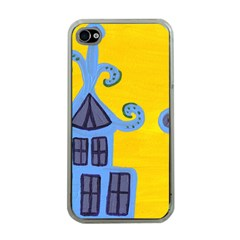 Blue House Apple Iphone 4 Case (clear)
