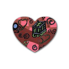 Floating Bed Rubber Coaster (heart)