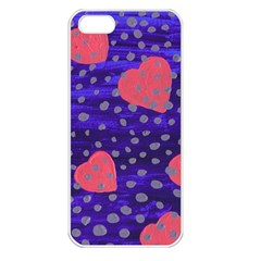 Underwater Pink Hearts Apple Iphone 5 Seamless Case (white)