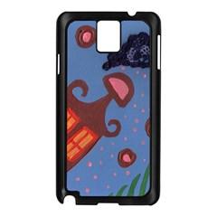 Pink Snow On Grass Samsung Galaxy Note 3 N9005 Case (black)
