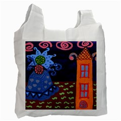 Jack In The Box Flower Recycle Bag (one Side)