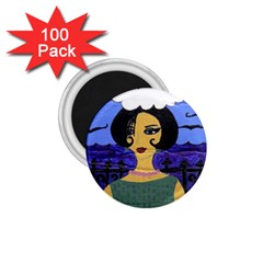 Girl By The Sea 1 75  Magnets (100 Pack)