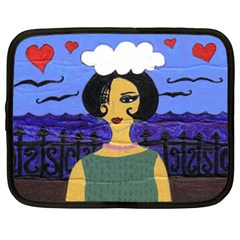 Girl By The Sea Netbook Case (xl)