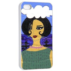 Girl By The Sea Apple Iphone 4/4s Seamless Case (white)