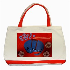 My Dog Sleeping Classic Tote Bag (red)
