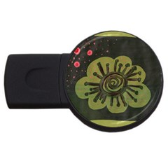 Flower Spitting Out Pink Pollen Usb Flash Drive Round (4 Gb)