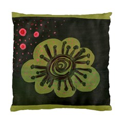 Flower Spitting Out Pink Pollen Standard Cushion Case (two Sides)