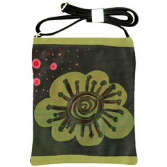 Flower Spitting Out Pink Pollen Shoulder Sling Bags