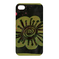 Flower Spitting Out Pink Pollen Apple Iphone 4/4s Premium Hardshell Case