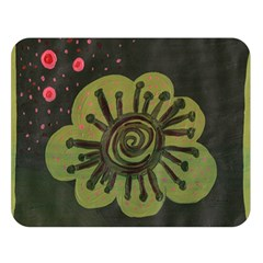 Flower Spitting Out Pink Pollen Double Sided Flano Blanket (large)