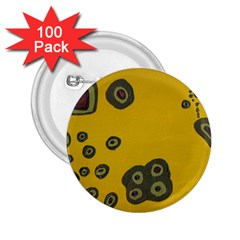Peas Four Leaf Clover 2 25  Buttons (100 Pack)