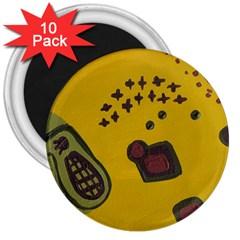 Hairdryer Easter Egg 3  Magnets (10 Pack)