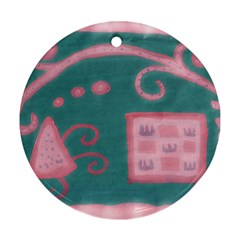 A Pink Dream Round Ornament (two Sides)