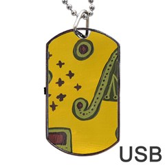 Indian Violin Dog Tag Usb Flash (two Sides)