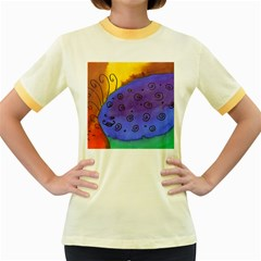 Whale And Eggs Women s Fitted Ringer T Shirt