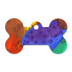 Whale And Eggs Dog Tag Bone (two Sides)