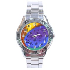 Whale And Eggs Stainless Steel Analogue Watch