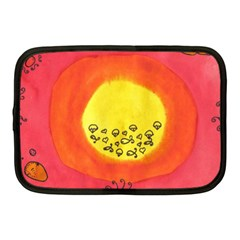 Red Sun Netbook Case (medium)