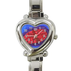 Red Egg Heart Italian Charm Watch