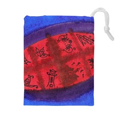 Red Egg Drawstring Pouches (extra Large)