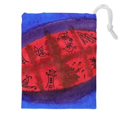 Red Egg Drawstring Pouches (xxl)