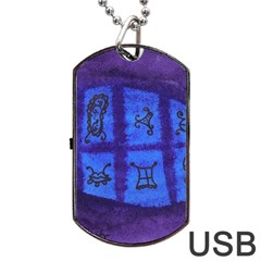 Save The Butterfly Egg Dog Tag Usb Flash (two Sides)