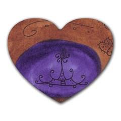 House Egg Heart Mousepads
