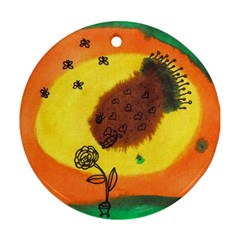Pirana Eating Flower Ornament (round)