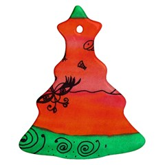 Flying Eyebird Christmas Tree Ornament (two Sides)
