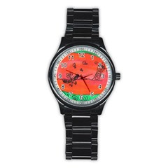 Flying Eyebird Stainless Steel Round Watch
