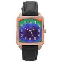 Egg Rose Gold Leather Watch