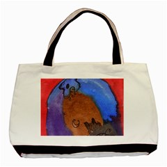Creepy Castle Basic Tote Bag (two Sides)
