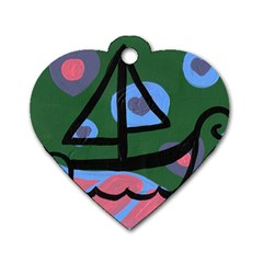 Boat Dog Tag Heart (one Side)