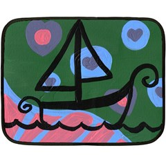 Boat Double Sided Fleece Blanket (mini)