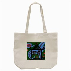 Smiling House Tote Bag (cream)