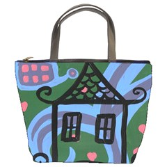 Smiling House Bucket Bags