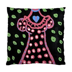 Dress And Falling Leaves Standard Cushion Case (two Sides) by snowwhitegirl