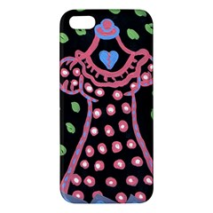 Dress And Falling Leaves Apple Iphone 5 Premium Hardshell Case