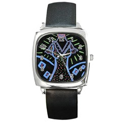 Saint Dress Square Metal Watch
