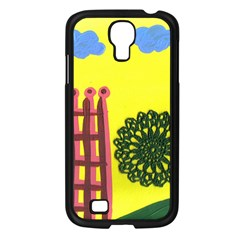 Pink House And Fence Samsung Galaxy S4 I9500/ I9505 Case (black)