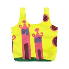 Three Houses Saying Ohhhh Full Print Recycle Bags (m)
