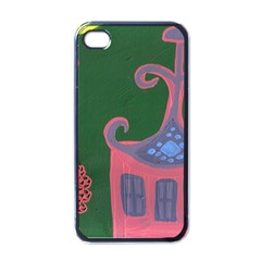 The Biggest Pink House Apple Iphone 4 Case (black)