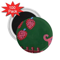 Floating Strawberries 2 25  Magnets (100 Pack)