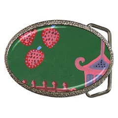 Floating Strawberries Belt Buckles
