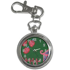 Floating Strawberries Key Chain Watches