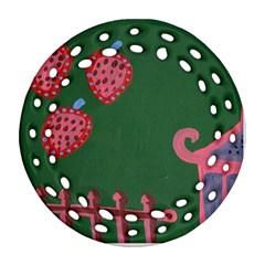 Floating Strawberries Ornament (round Filigree)