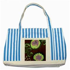 Cute Crab Striped Blue Tote Bag