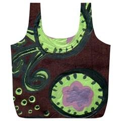 Cute Crab Full Print Recycle Bags (l)