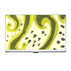 Yellow Swirls Business Card Holders