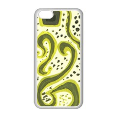 Yellow Swirls Apple Iphone 5c Seamless Case (white)
